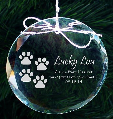 Personalized Pet Ornament, Custom Pet Memorial Ornament, Engraved Crystal  Ornament for Pets, Christmas - Amazon.com: Personalized Pet Ornament, Custom Pet Memorial Ornament