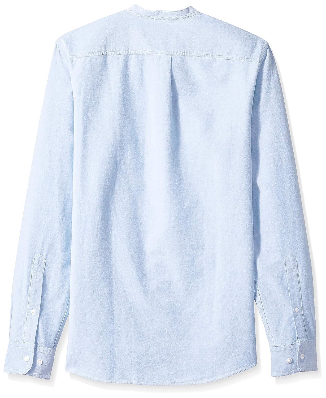 e9d320def46bc2 Amazon.com: Amazon Brand - Goodthreads Men's Slim-Fit Long-Sleeve Band- Collar Oxford Shirt: Clothing