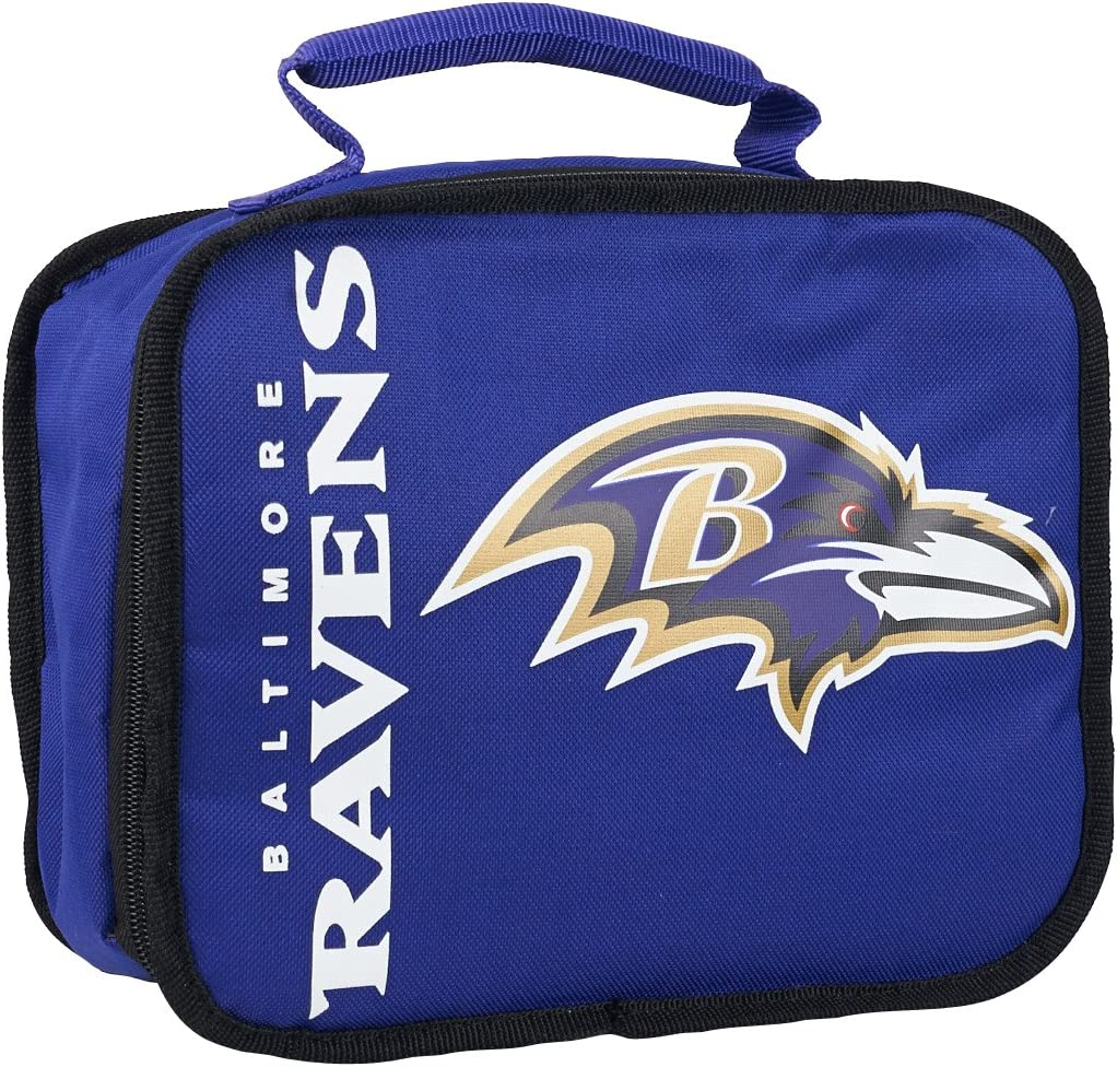 """Officially Licensed NFL """"Sacked"""" Lunch Cooler Bag, Multi Color, 10.5"""" x 8.5"""" x 4"""""""