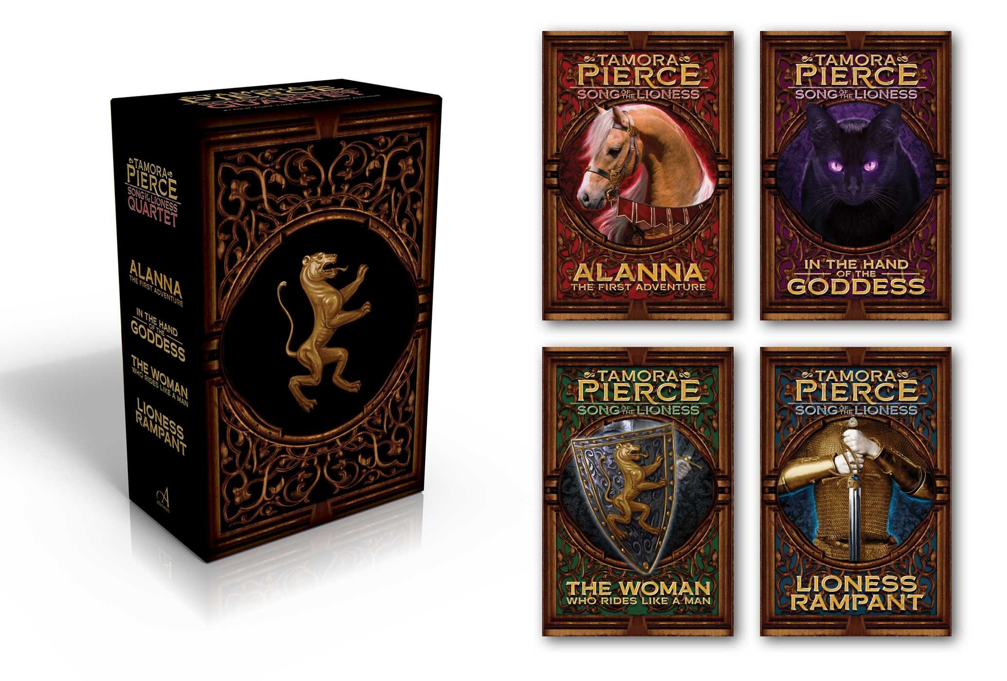 Amazon: Song Of The Lioness Quartet: Alanna; In The Hand Of The  Goddess; The Woman Who Rides Like A Man; Lioness Rampant (9781481416498):  Tamora Pierce,