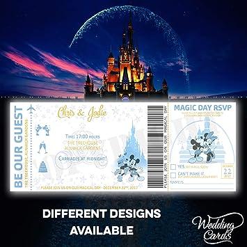 Mickey Und Minnie Personalisiert Disney Hochzeit Geburtstag Ticket