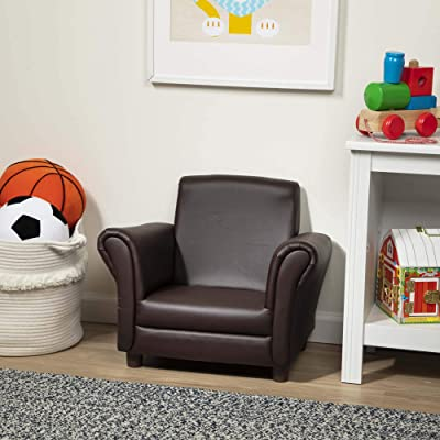 "Melissa & Doug Child's Armchair, Coffee, Brown Faux Leather (Children's Furniture, Armchair for Kids, 18.3"" H x 23"" L x 17.5"" W, Great Gift for Girls and Boys - Best for 3, 4, 5 Year Olds and Up): Toys & Games"