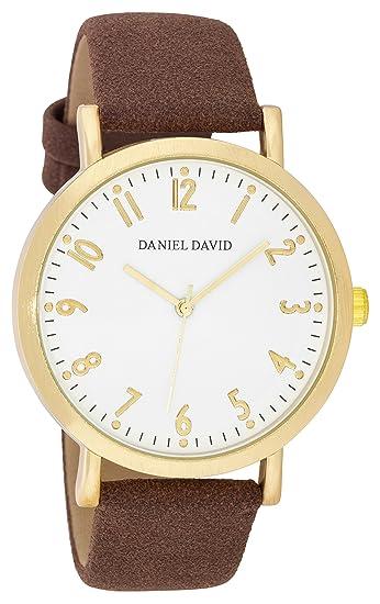 Hombres de relojes por Daniel David - Classic Ultrasuede banda reloj serie - hacer cada segundo Conde - dd1650: Daniel David: Amazon.es: Relojes