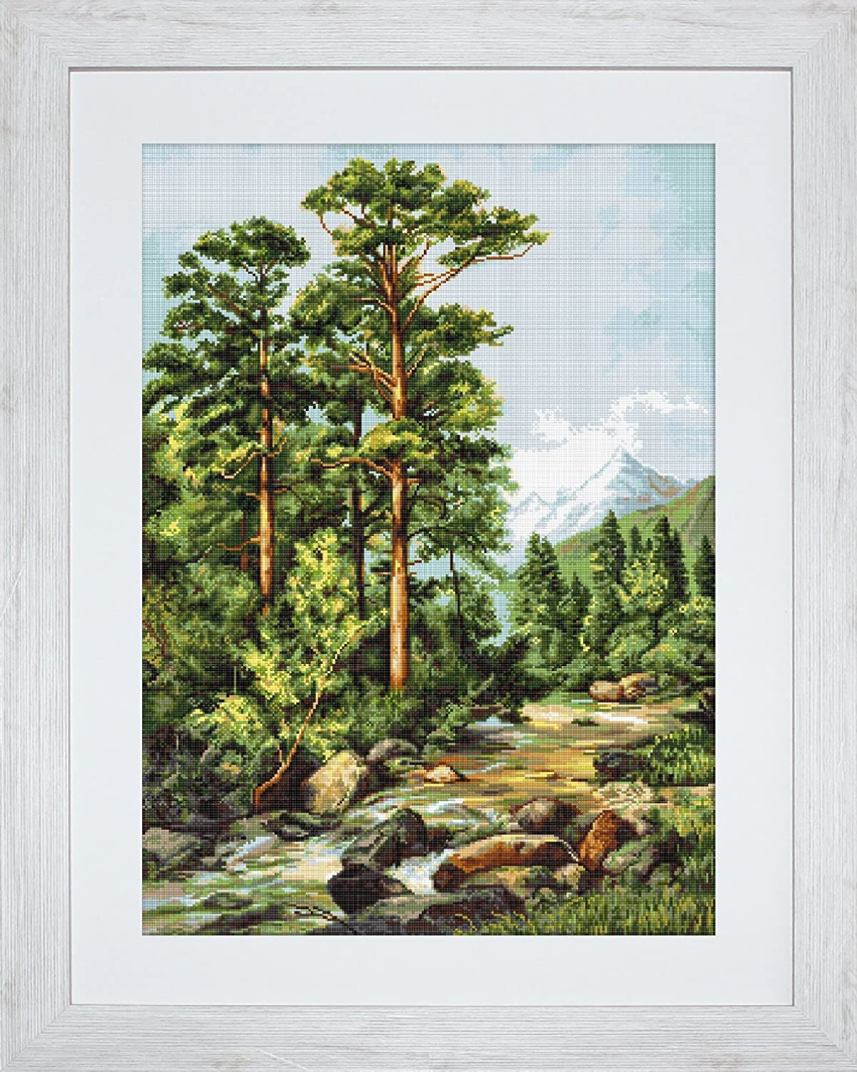 Lucas-S Mountain River Counted Cross-Stitch Kit Luca-S B522