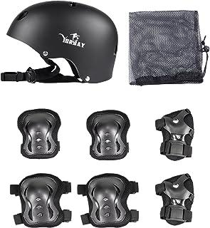 Yorbay Kinder Helm Protektoren Set für Kinder Schutzset Ellenbogenschützer Handgelenkschoner Knieschoner für Skate, Fahrrad, Radfahren, Reiten, Skateboard, Roller Skate
