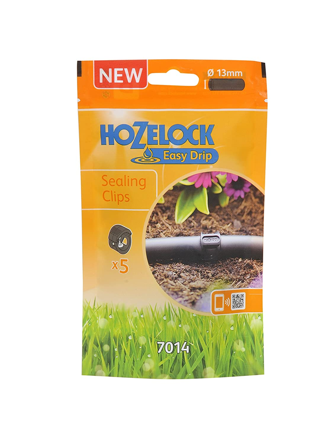 Hozelock Water Irrigation Easy Drip Sealing Clip Pack of 5