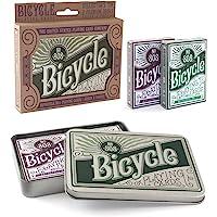 Bicicleta Retro estaño Playing Tarjeta Set de regalo