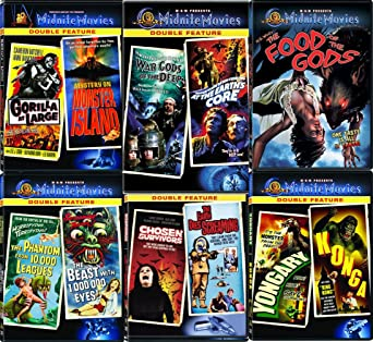 Amazon Com Monsters Creatures Midnite 11 Movies Dvd Set The Food Of The Gods The Phantom From 10 000 Leagues At The Earth S Core Konga Yongary Monster From The Deep