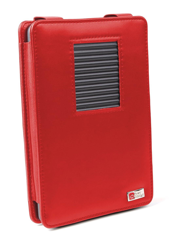 /Última Generaci/ón, Marzo 2012 DURAGADGET Funda Roja De Cuero con Soporte para El Nuevo Kindle Touch + Luz LED De Lectura Clip On Roja Wi-Fi,6 De