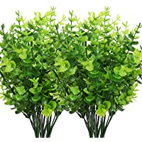 CEWOR 8pcs Artificial Boxwood Artificial Shrub Fake Green Plastic Plant for Wedding, Courtyard, Indoor and Outdoor…
