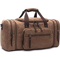 LOSMILE Canvas Reisetasche,weekender Tasche Sporttasche Handgepäck für Damen und Herren mit der Großen Kapazität.