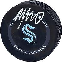 $42 » Morgan Geekie Seattle Kraken Autographed Official Game Puck - Autographed NHL Pucks