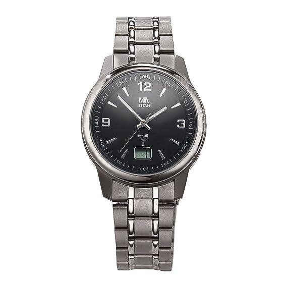 Meister Ancla Hombre Radio Reloj Titan 23,0 Gris Quartz Cristal Mineral 490000090: Amazon.es: Relojes