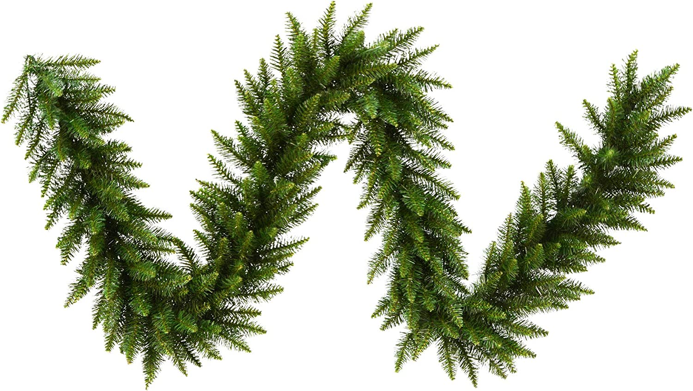 Vickerman 9' Camden Fir Artificial Christmas Garland, Unlit - Faux Holiday Garland - Indoor Seasonal Home Decor
