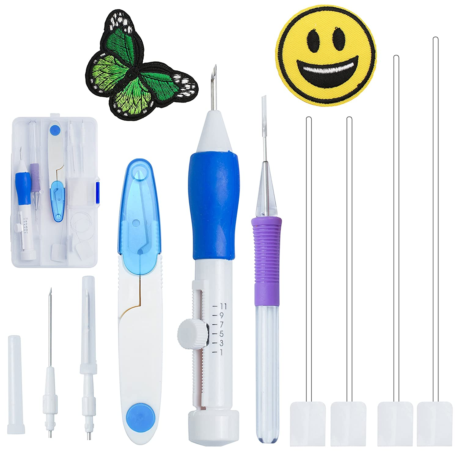 Magic Embroidery Pen Punch Needles - BoChang Magic Embroidery Pen Set Embroidery Kits Punch Needle Kit Knitting Sewing Tool for Embroidery DIY Threaders Sewing 4336936439