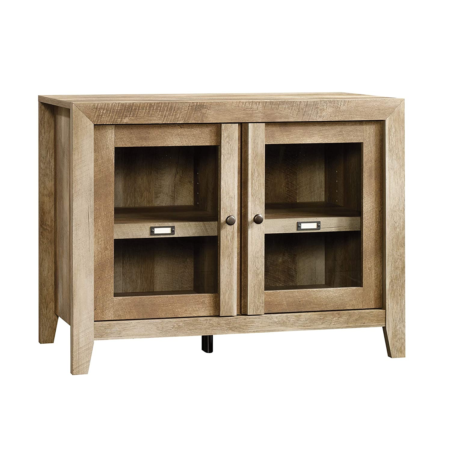 "SauderDakota Pass Display Cabinet, 41.10"" L x 17.52"" W x 30.98 H, Craftsman Oak Finish"