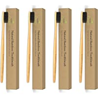 Isabella's Clearly BAMBOO Toothbrush, Gentle Soft Charcoal Infused Nylon BPA-Free Bristles, Eco-Friendly, Biodegradable. Natural Organic Materials Good for Teeth & Earth. Adults & Kids (4)