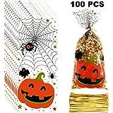 Amazon.com: 24 Bolsas de celofán para Goody de Halloween ...