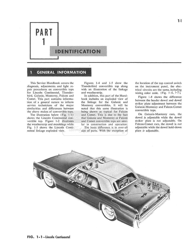 Bishko Automotive Literature 1962 1963 1964 Ford 81 Town Coupe Engine Diagram Fairlane Shop Service Repair Manual Book Drivetrain