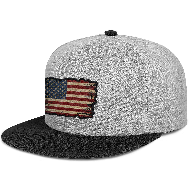 Men Womens Trucker Hats Us Old American Flag Patch Snapback Fits Cap
