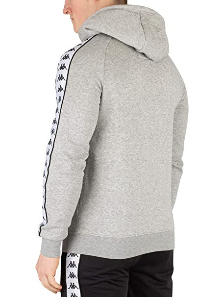 Amazon.com: Kappa Mens Banda Hurtado Pullover Hoodie, Grey ...
