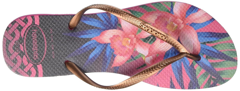 Havaianas Damen (Rose Slim Tropical Zehentrenner Mehrfarbig (Rose Damen 0046) df5a91