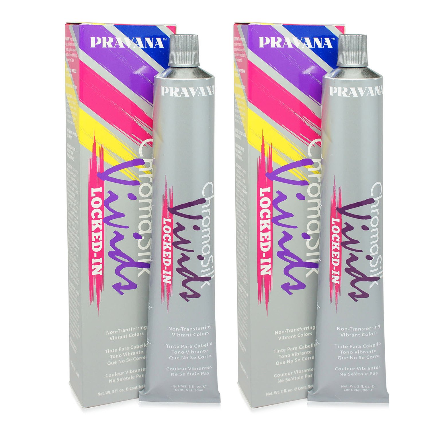 Pravana ChromaSilk Vivids (Locked in Blue), 3 Fl 0z - 2 Pack by Pravana (Image #1)