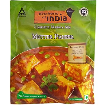 Kitchens Of India Masala Mix   Mutter Paneer, 80g Pouch