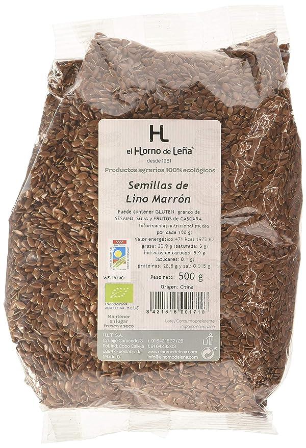 Horno de Leña Semilla de Lino Marrón Eco, 500g, Pack de 1: Amazon ...
