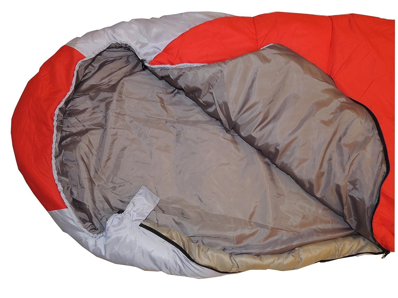 NB outdoor Saco de Dormir 3 Temporada Temporada Temporada Grande Momia Saco de Dormir 230 x 80 cm para Exterior y Camping 300 g, Color Rojo, tamaño 230 x 80 cm 4f8a96