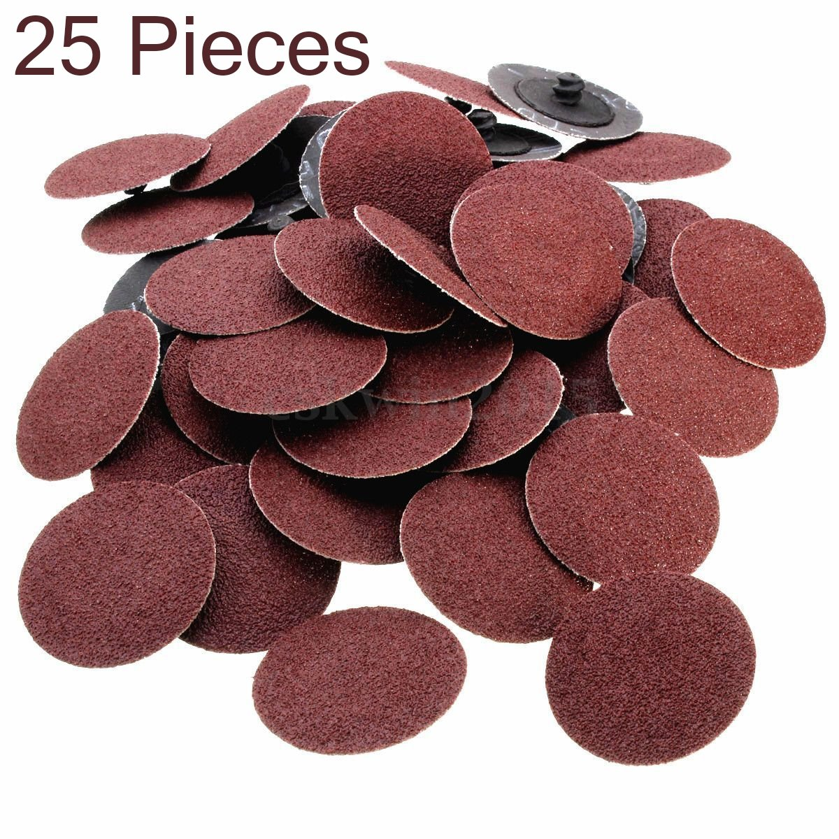 25 Pieces -3 Inch 80 Grit Roll Lock Sanding And Grinding Discs - For Rotary Tools, Die Grinder, Drill, Carpenters, Woodworking- By Katzco by Katzco