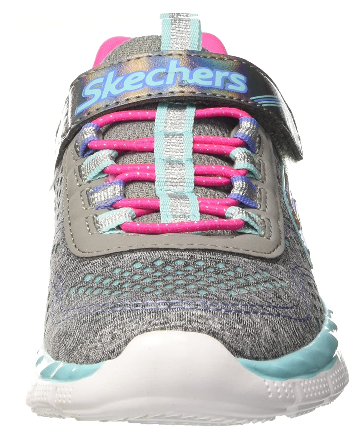 Skechers Air-Appeal-Crushing Cutie, Entrenadores para Niñas, Gris (Grey/Multi), 37 EU