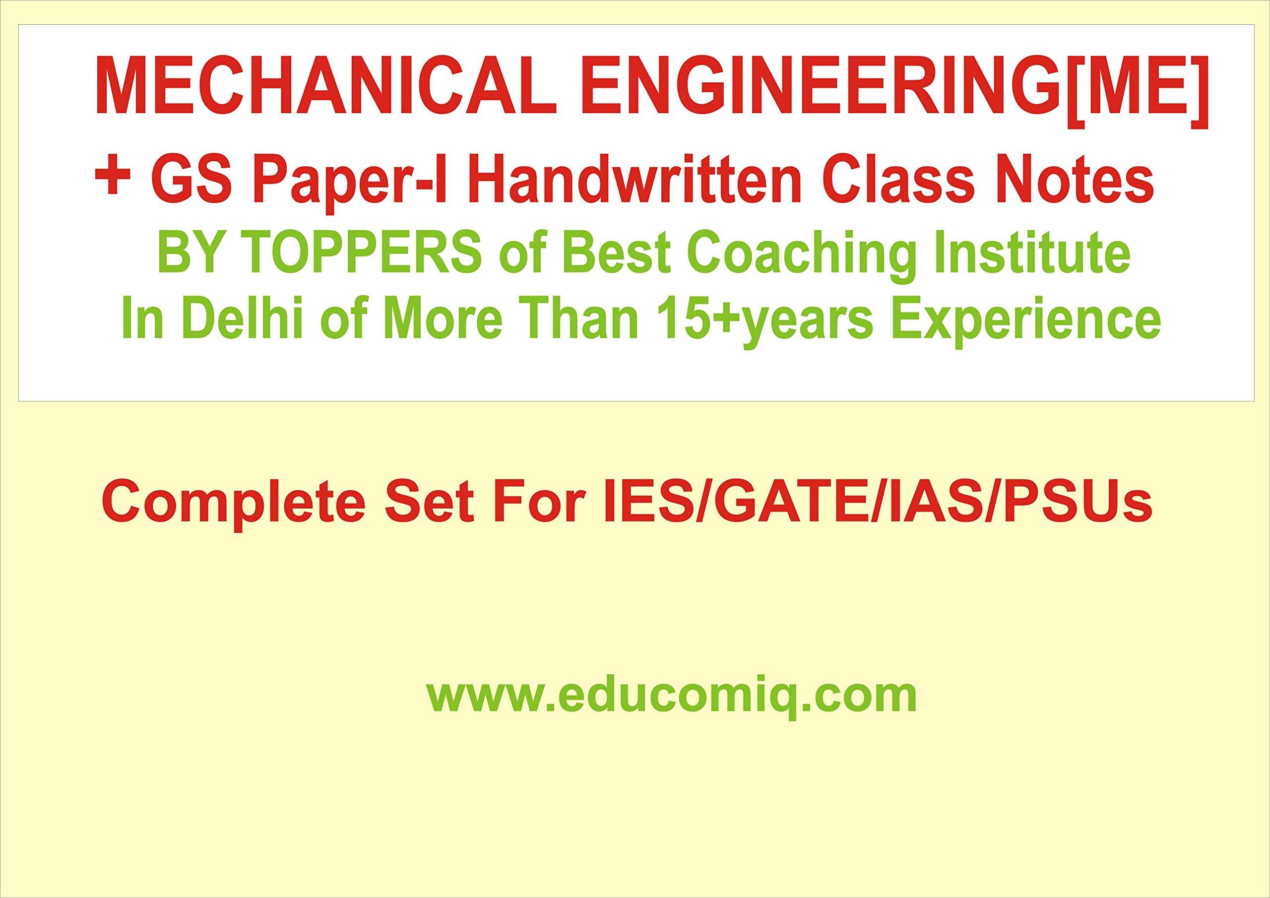 Buy [Civil Engineering + GS paper-I] Handwritten Notes [Complete SET