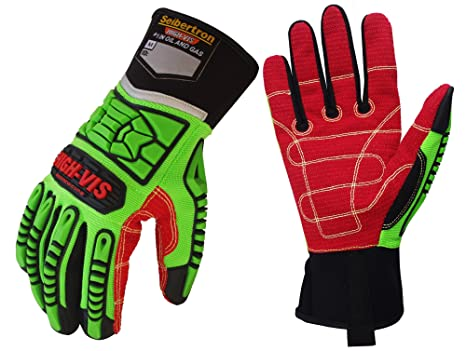 Safety Gloves Impact Resistant Oil And Gas Industrial Safety Gloves Anti Impact Proof Mechanics Rigger Work Gloves