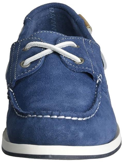 Wrangler Ocean Suede, Scarpe da Barca Uomo, Blu (Jeans 118), 43 EU
