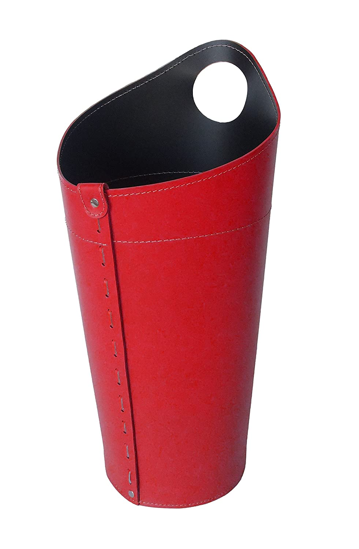 NIDAC: Korb fü r Kaminbesteck aus Rot Leder. Gavemo