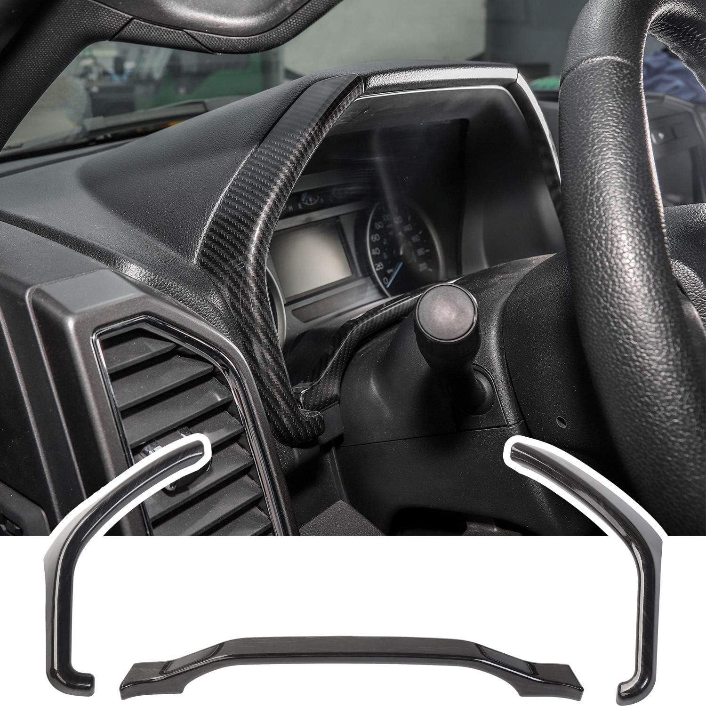 Carbon Fiber Car ABS Dashboard Trim for 2015 2016 2017 2018 2019 2020 Ford F150
