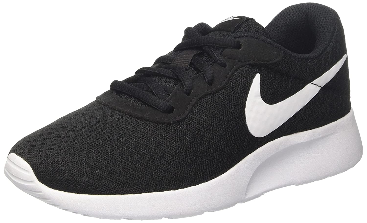 NIKE Women's Tanjun Running Shoes B004YD2JYE 5 B(M) US|Black/White