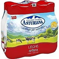 Central Lechera Asturiana Leche UHT Entera - Paquete de 6 x 1500 ml - Total: