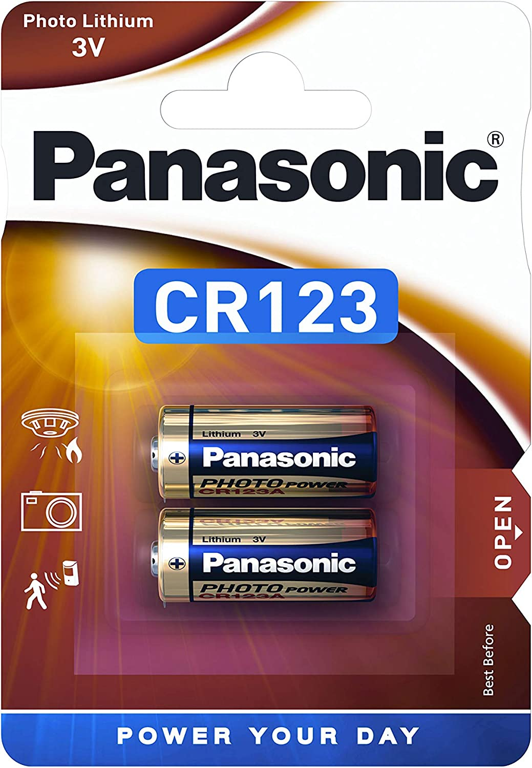 Lot 10 piles photo batterie 3V lithium CR123A CR123 DL123A EL123A PANASONIC