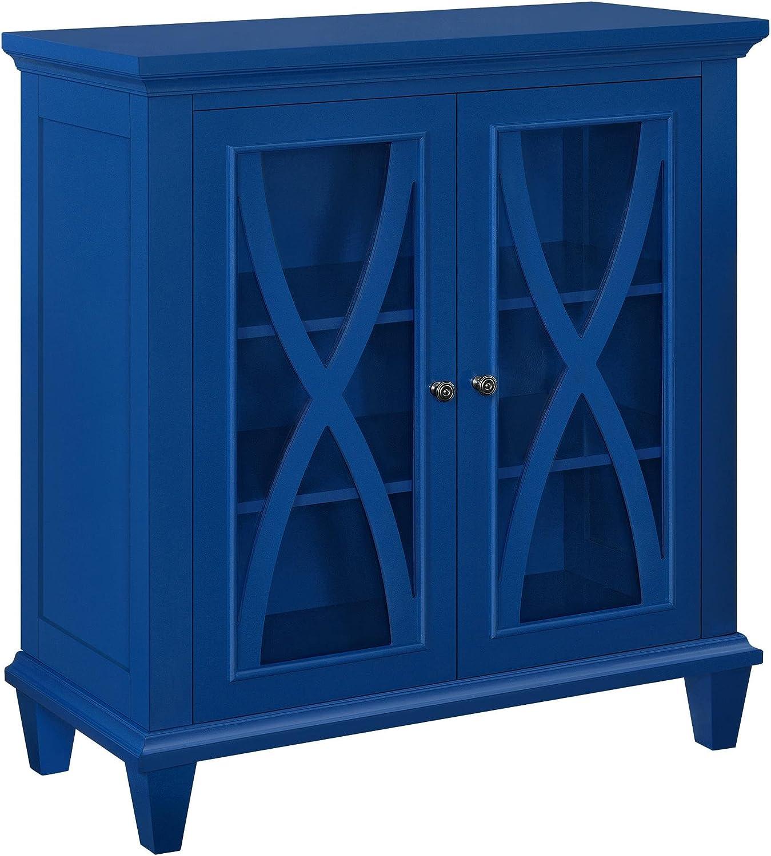 Ameriwood Home Altra Ellington Double Door Accent Cabinet Blue Furniture Decor