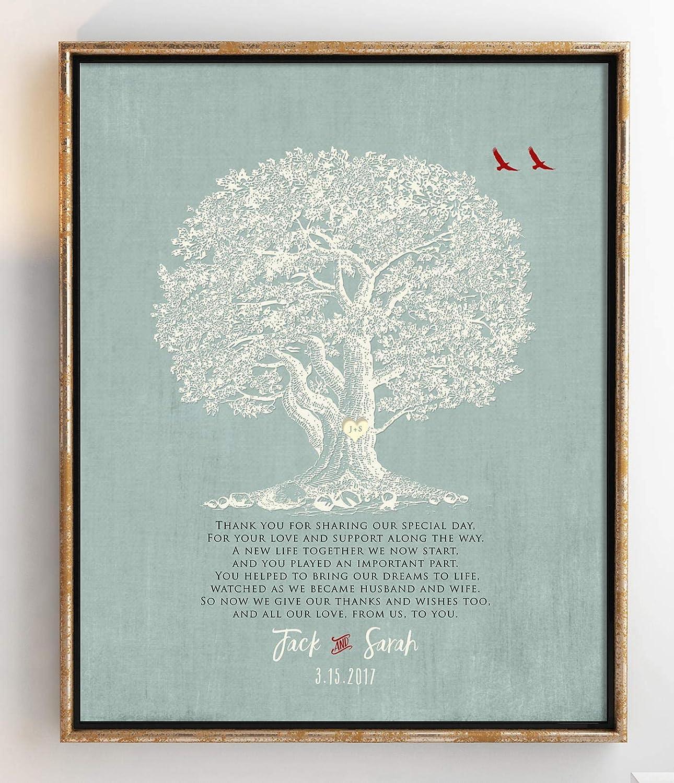 NtART - Póster de regalo para madre de novio para suegra, regalo de agradecimiento para padres para boda, diseño de boda personalizado de 8 x 10 cm