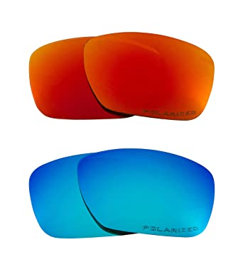ab1dead0fa3 Image Unavailable. Image not available for. Color  Plaintiff Replacement  Lenses Polarized Blue   Red by SEEK fits OAKLEY Sunglasses