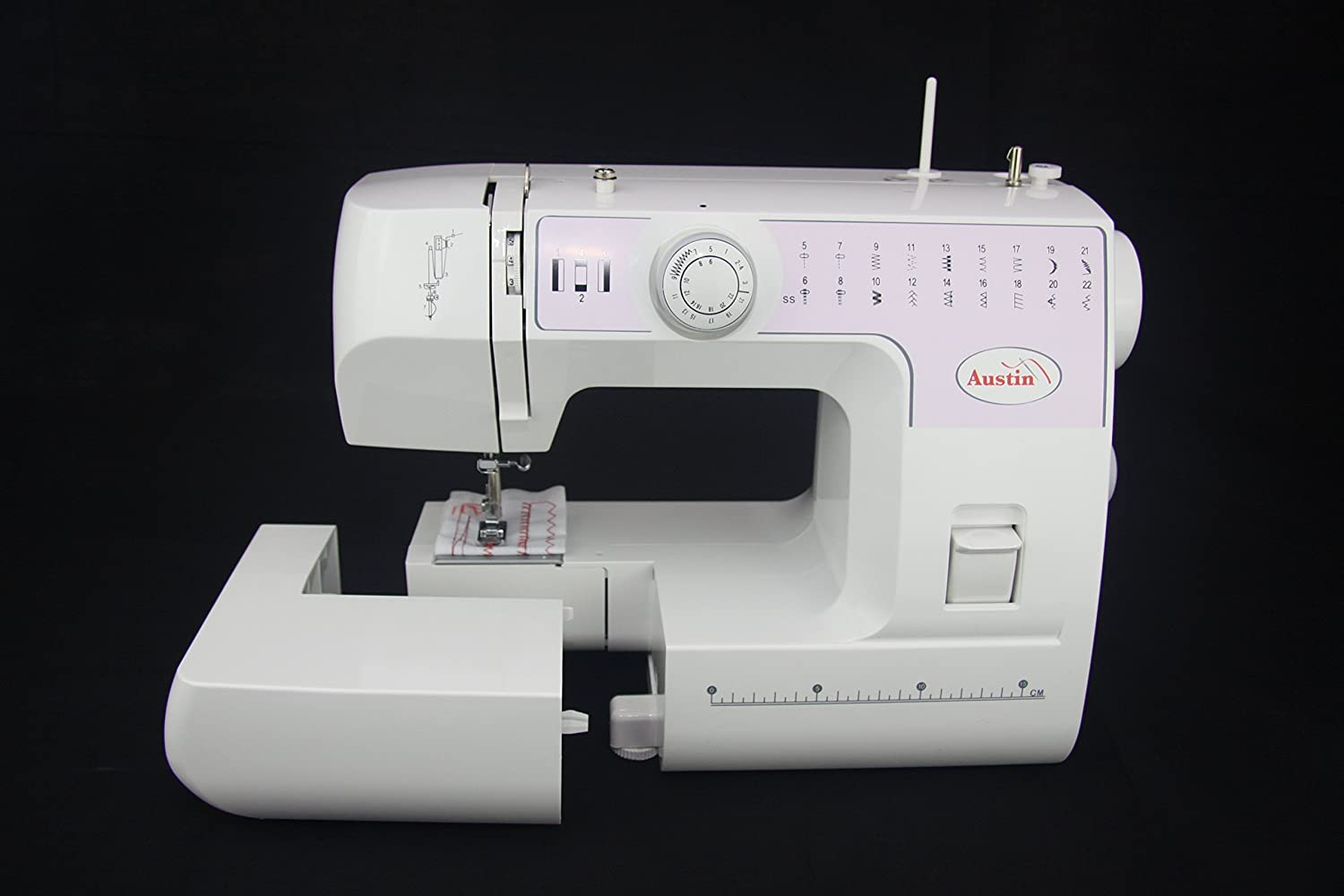 Austin Sewing Machine 22 Auto Stitch Selection, Metal, White, 45 x 35 x 25 cm KP886
