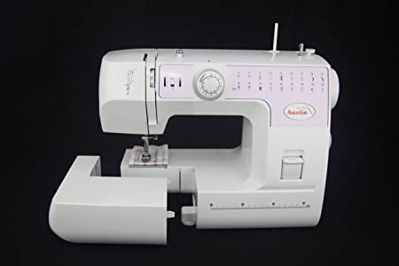 Austin Sewing Machine 22 Auto Stitch Selection Metal White 45 X