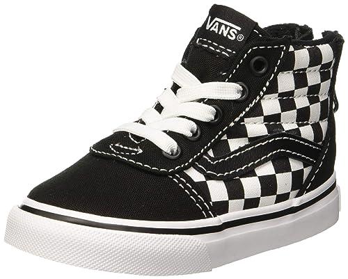 56f31e7806a Vans Babies  Ward Hi Zip Suede Canvas Low-Top Sneakers Checkerboard Black
