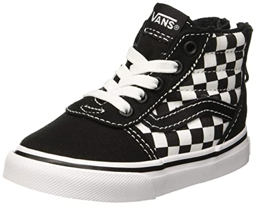 Vans Babies  Ward Hi Zip Suede Canvas Low-Top Sneakers Checkerboard Black  ea5af9a7d