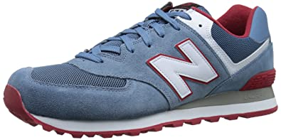 uk availability 9494b 64f74 Image Unavailable. Image not available for. Colour  new balance Men s 574  Glaucous and White ...