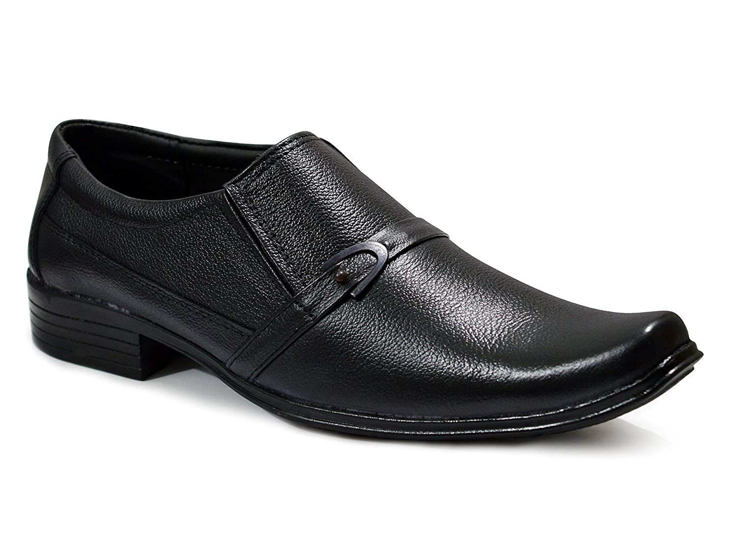 2adeaa73371 feetway Genuine Leather Plain Formal Shoes for Men Without Lace Black  Colour  Buy Online at Low Prices in India - Amazon.in