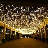 jar-owl 300 LED Solar Curtain String Light, Outdoor